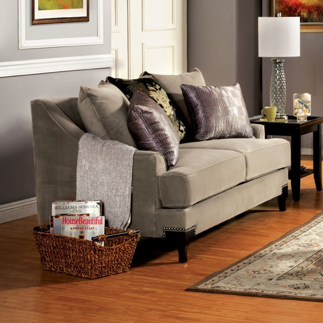 LOVE SEAT  COCOA BROWN.