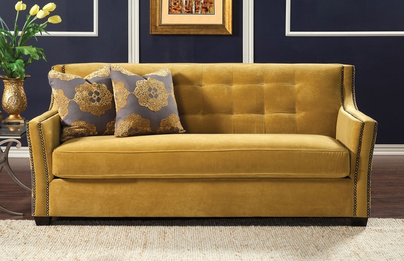 FURNITURE OF AMERICA, SOFA GOLD, SM2211-SF
