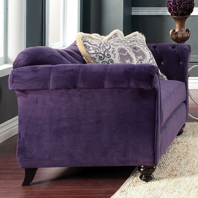LOVE SEAT  PURPLE.