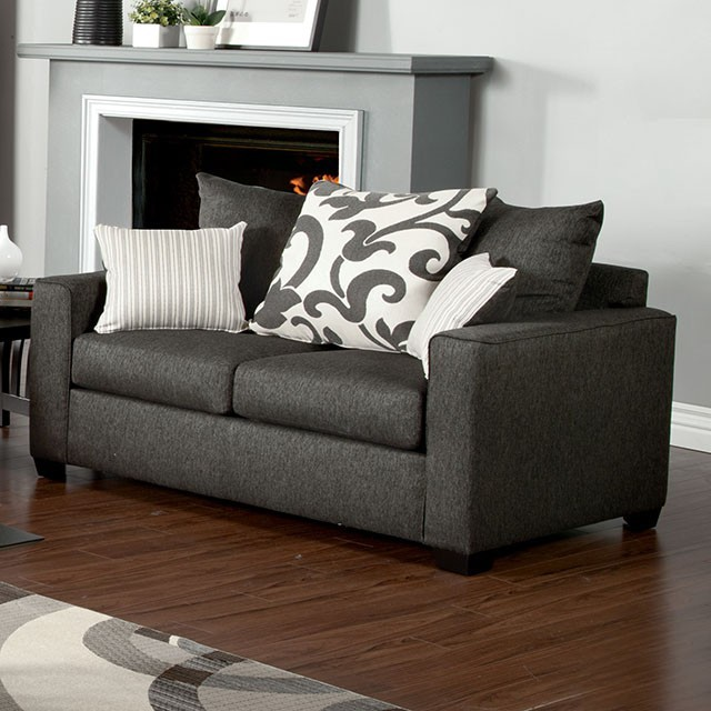 LOVE SEAT  CHARCOAL.