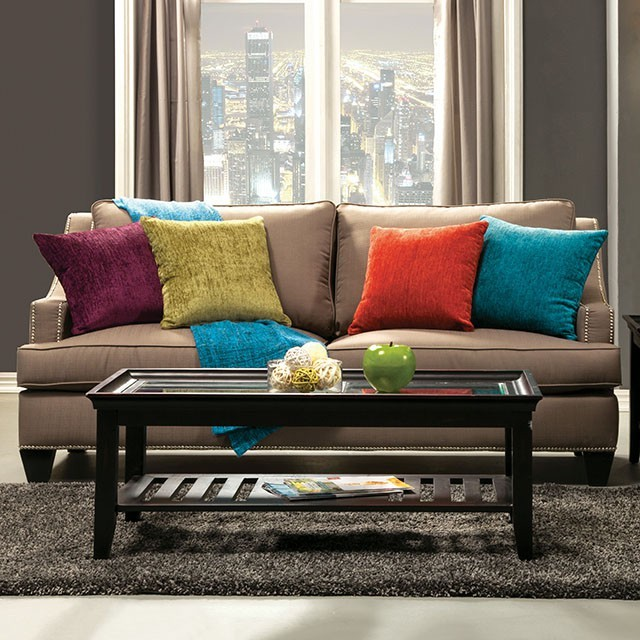 FURNITURE OF AMERICA, SOFA  GRAY, SM3062-SF
