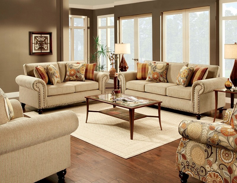 2 PCS SOFA SET TAN