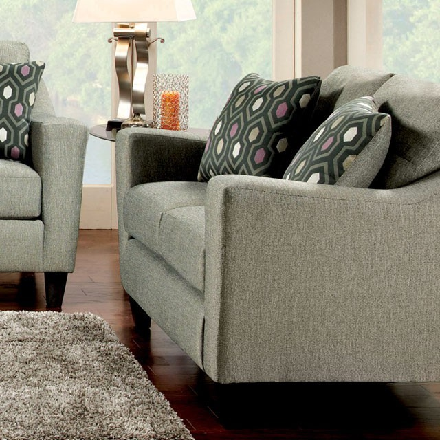 FURNITURE OF AMERICA, LOVE SEAT  GRAY, SM8210-LV