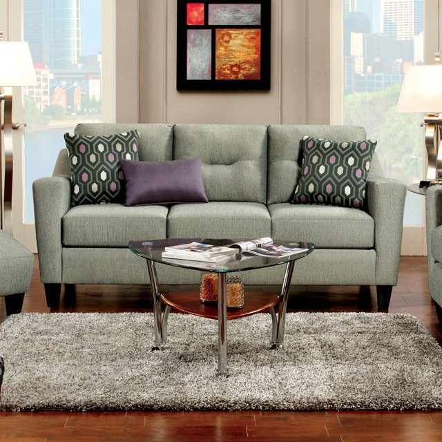 FURNITURE OF AMERICA, SOFA  GRAY, SM8210-SF