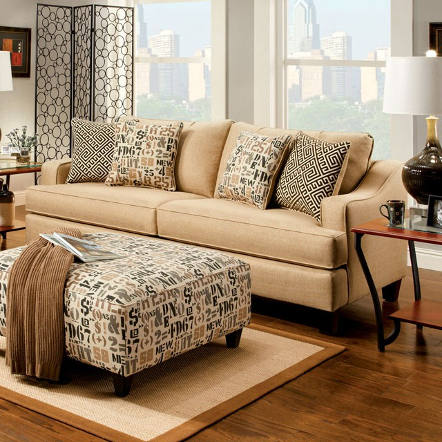 FURNITURE OF AMERICA, SOFA TAN, SM8420-SF