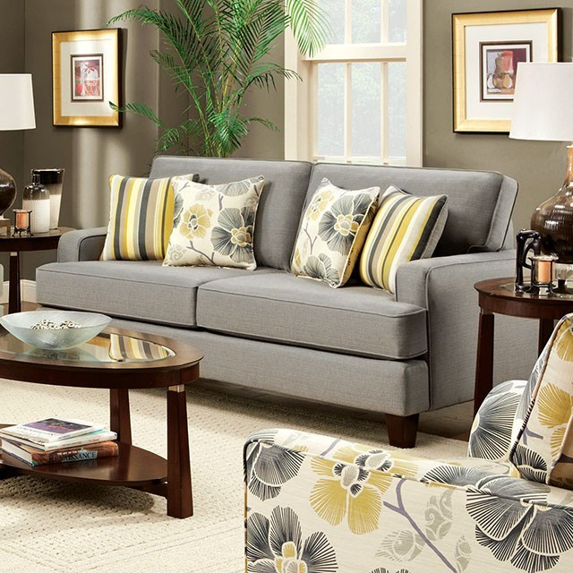 FURNITURE OF AMERICA, SOFA  BEIGE, SM8490-S