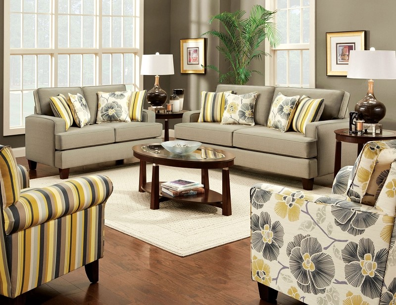 2 PCS SOFA SET BEIGE
