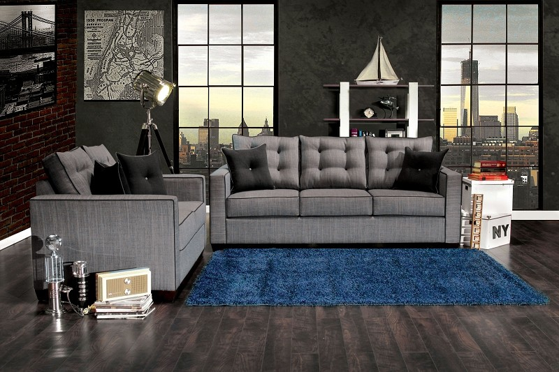 2 PCS SOFA SET GRAY
