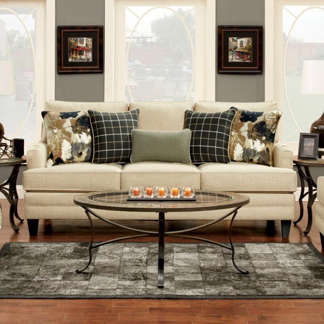 FURNITURE OF AMERICA, MARSALIS SOFA  IVORY, SM8900-SF