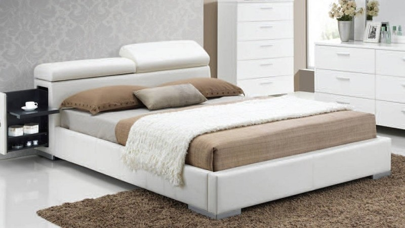 QUEEN BED WHITE.
