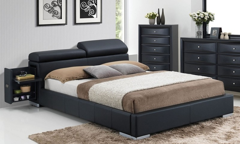 ACME, QUEEN BED BLACK, 20750Q