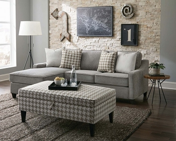 REVERSIBLE SECTIONAL GRAY FABRIC, 501697