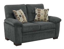COASTER, LOVE SEAT CHARCOAL CHENILLE, 506585