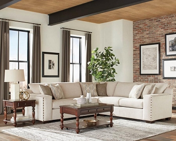 ARIA SECTIONAL OATMEAL CHENILLE, 508610