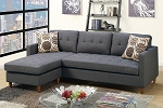 POUNDEX REVERSIBLE SECTIONAL GRAY POLYFIBER, F7094