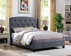 QUEEN BED FRAME GRAY, 8615-Q