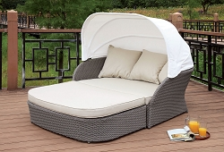 FURNITURE OF AMERICA, AIDA 2 PCS PATIO CANOPY DAY BED, CM-OS2107