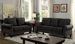 BRAND NEW 2 PCS SOFA SET DARK GRAY