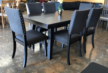 POUNDEX, 7 PCS DINING SET BLACK, F2481, F1774