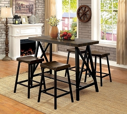 FURNITURE OF AMERICA, LAINEY 5 PCS DINETTE SET, CM3415PT