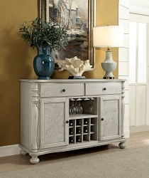 FURNITURE OF AMERICA, SIOBHAN SERVER , CM3872WH-SV