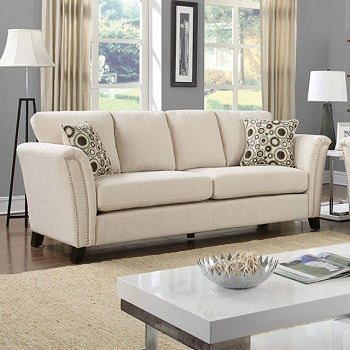 FURNITURE OF AMERICA, CAMPBELL SOFA BEIGE FABRIC, CM6095IV-SF