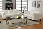 PIERRE 2PCS SOFA + LOVE SEAT WHITE