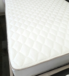 DOUBLE SIDED,EXTRA FIRM POCKET COILS, FOAM ENCASE EASTERN KING SIZE MATTRESS, DIAMOND WHITE