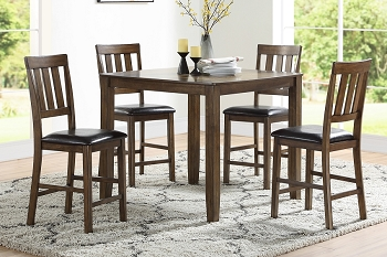5 PCS COUNTER HEIGHT TABLE SET BROWN, F2545
