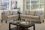POUNDEX, 2PCS SOFA SET SAND LINEN, F6908