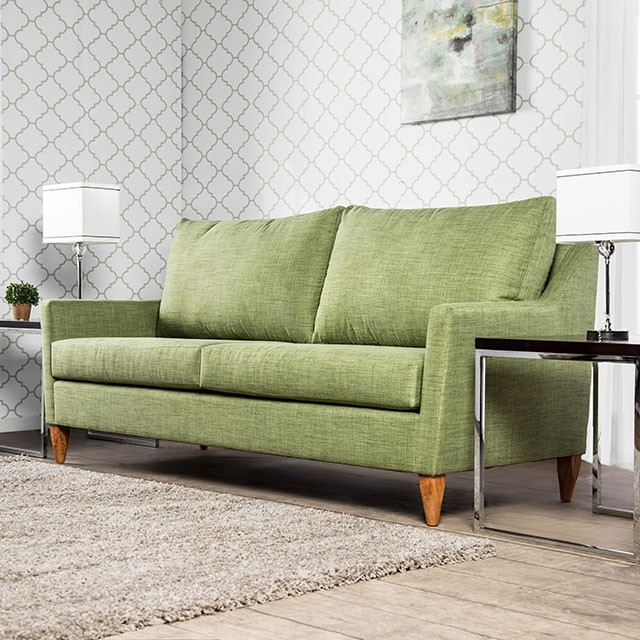 FURNITURE OF AMERICA, GREEN SOFA, SM8815