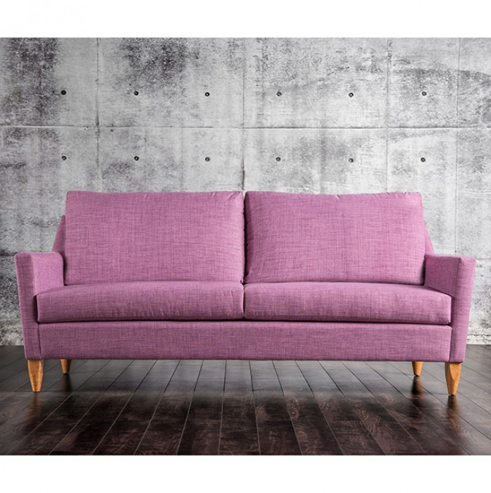 FURNITURE OF AMERICA, MARYLIN PURPLE SOFA, SM8817