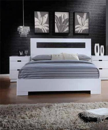 Asia Direct Cal King Bed White Finish Vista