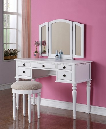 POUNDEX VANITY SET FREE STOOL+TRI MIRROR, F4074
