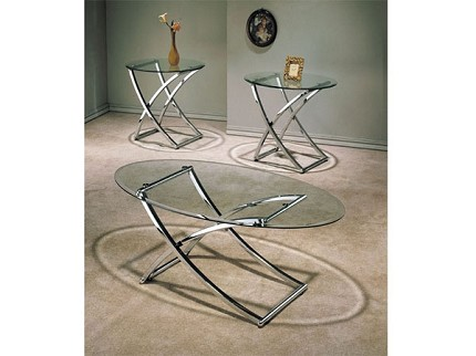 ACME, 3 PCS TABLE SET 1COFFEE TABLE+2END TABLES, 07846