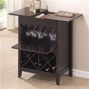 ACME, WINE RACK WENGE FINISH, 12240