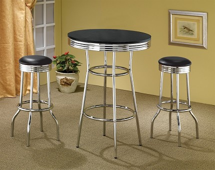 ASIA DIRECT, 3 PCS PACK BAR TABLE & STOOL SET,
