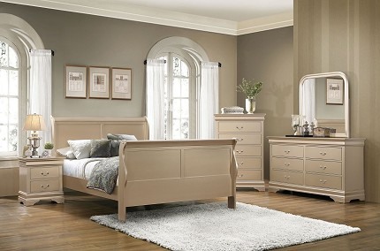 COASTER,  BEDROOM SET QUEEN BED+1NS+DRESSER+MIRROR, 204421Q-S4