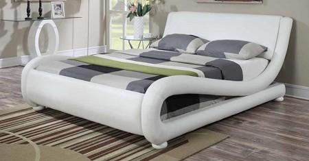 kingsburg brand new white queen size bed frame 300070 - White Queen Size Bed Frame