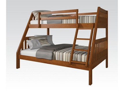 ACME, TWIN / FULL BUNK BED OAK FINISH, AC-37125