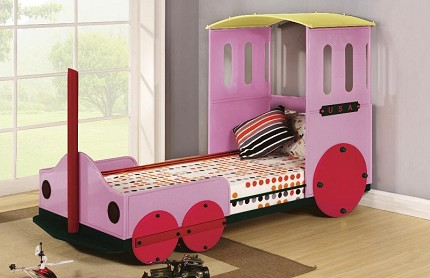 ASIA DIRECT, TWIN BED TRAIN DESIGN PINK, 8718-BK