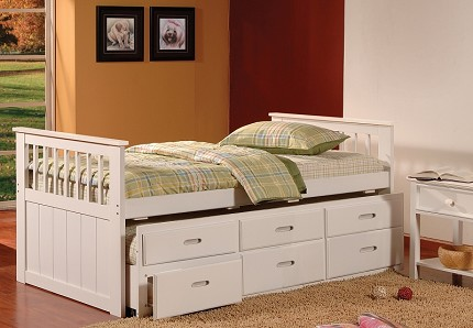 ASIA DIRECT CAPTAIN'S BED/ TWIN BED+TWIN TRUNDLE+3DRAWERS, 8420WH
