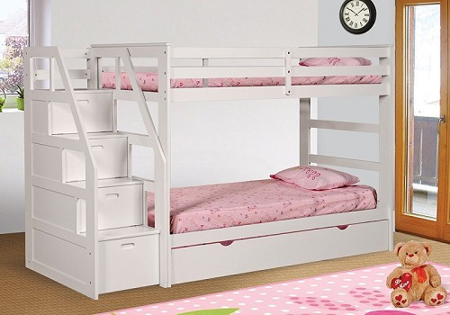 BELLA ESPRIT TWIN/TWIN+TRUNDLE+STEP STORAGE, 45165WH