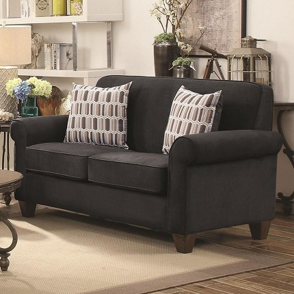 COASTER,  GIDEON LOVE SEAT GRAPHITE WARP KNITTING, 506405