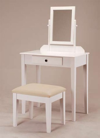 ASIA DIRECT VANITY SET WHITE, 555-WH