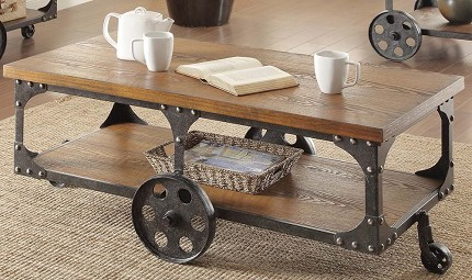 COASTER COFFEE TABLE WITH CASTER, 701128