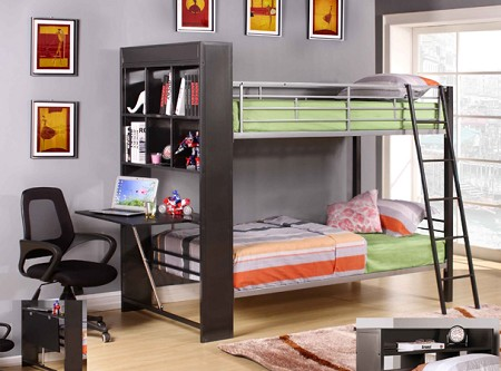 ASIA DIRECT TWIN/ TWIN BUNKBED WITH BOOK SHELF AND DESK, 828