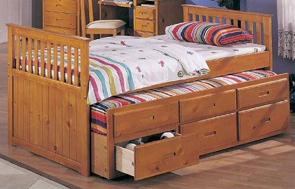 ASIA DIRECT CAPTAIN'S BED OAK, 8420-OAK