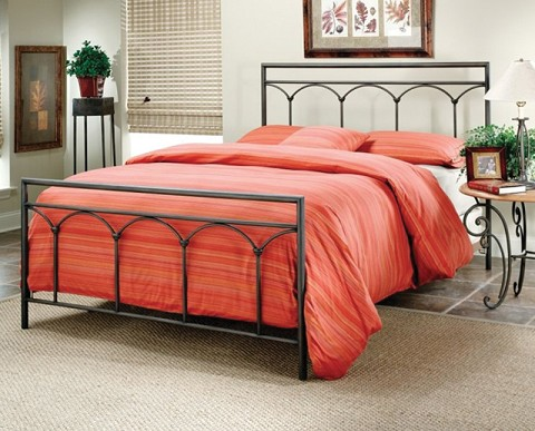 queen metal bed with frame black finish