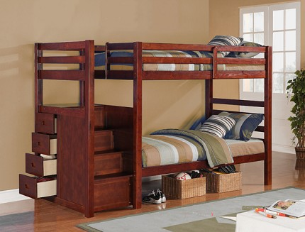 ASIA DIRECT TWIN/TWIN LADDER BUNK BED, 865